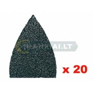 Šlif. popierius delta šlifuokliui Fein; P100; 20 vnt.