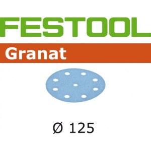 Šlif. popierius eksc. šlifuokliui; Granat; Ø125 mm; P1200; 50vnt.