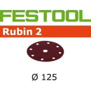 Šlif. popierius eksc. šlifuokliui; Rubin2; Ø125 mm; P180; 10vnt.