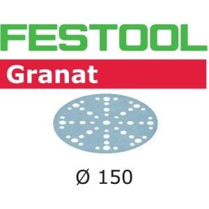 Šlif. popierius eksc. šlifuokliui Festool STF 150 mm; 48; P80; GR; 10 vnt.