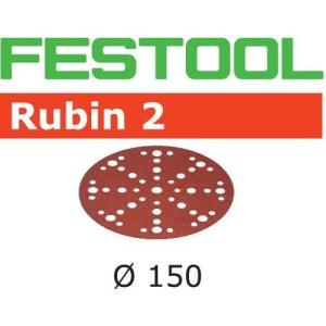 Šlif. popierius eksc. šlifuokliui Festool STF 150 mm; 48; P150; RU2; 10 vnt.