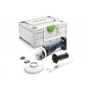 Akumuliatorinis kampinis šlifuoklis Festool AGC 18-125 EB-Basic; 18 V (be akumuliatoriaus ir pakrovėjo)