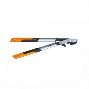 Svertinės sodo žirklės prasilenkiančiais ašmenimis su kablio formos galvute Fiskars PowerGear X LX94