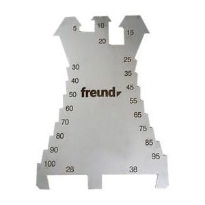 Žymėjimo plokštelė/rėžtukas Freund; 5-100 mm