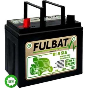 Akumuliatorius vejos traktoriams Fulbat U1-9 SLA su elektrolitu; 12 V; 28 Ah