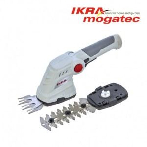 Gyvatvorių ir žolės žirklių rinkinys Ikra Mogatec IGBS; 3,6V; 1,3 Ah; 8/16 cm ilgio; akumuliatorinės
