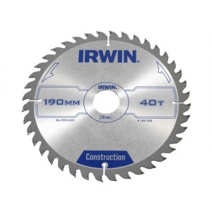 Pjovimo diskas medienai Irwin; Ø190 mm