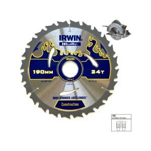 Pjovimo diskas medienai Irwin; 190x2,4x30,0 mm; Z24