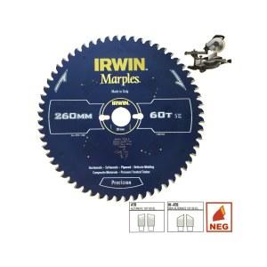 Pjovimo diskas medienai Irwin Marples; 254x2,5x30,0 mm; Z60