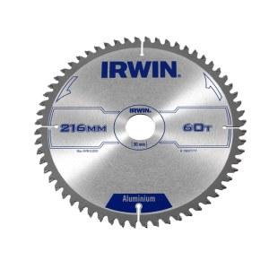Pjovimo diskas aliuminiui Irwin; 216x2,5x30,0 mm; Z60; -6°