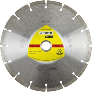 Deimantinis pjovimo diskas sausam pjovimui Klingspor DT 300 U Extra; 230x2,3x22,23 mm