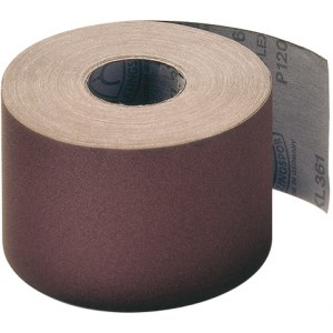 Šlifavimo popieriaus rulonas Klingspor; KL 361 JF; 80x50000 mm; K120; 1 vnt.