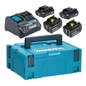 Priedų rinkinys Makita PowerPack 12 V + 18 V; 2x5,0 Ah/2x2,0 Ah akum. + pakrovėjas Makita DC18RE