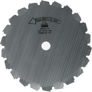 Diskas krūmapjovėms Makita; 200x20,0 mm; Z22