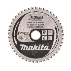 Pjovimo diskas metalui Makita Efficut; 136x20x1,1 mm; Z45