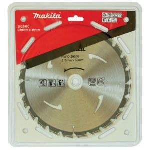 Pjovimo diskas medienai Makita; 210x2x30,0 mm; Z24; 20°
