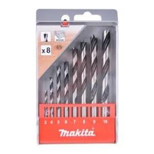 Grąžtų komplektas medienai Makita D-57227; 3-10 mm; 8 vnt.