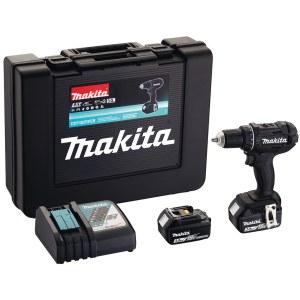 Suktuvas-gręžtuvas Makita DDF482RFEB; 18 V; 2x3,0 Ah akum.; juodas