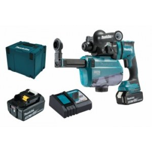Perforatorius Makita DHR182RTWJ; SDS-Plus; 1,7 J; 18 V; 2x5,0 Ah akum.