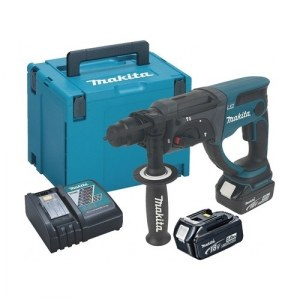 Perforatorius Makita DHR202RTJ; 2,0 J; SDS-plus; 18 V; 2x5,0 Ah; akum.