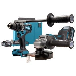 Įrankių rinkinys Makita (DF001G+GA005G); 40 V; 2x4,0 Ah akum.