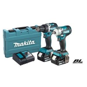 Įrankių rinkinys Makita DLX2410G (DDF484+DTW300); 18 V; 2x6,0 Ah akum.