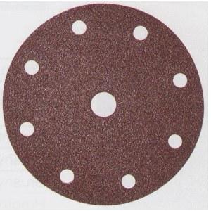 Šlif. popierius Velcro Backed; Ø150 mm; K80; 10vnt.