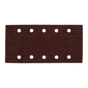 Šlif. popierius vibro šlifuokliui; 229x115 mm; P180; 10 vnt.