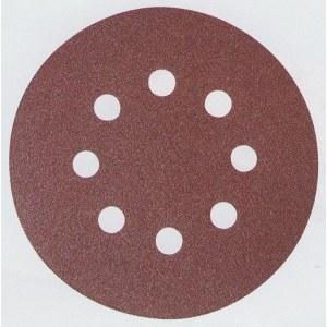 Šlif. popierius Velcro Backed; Ø125 mm; K40; 10vnt