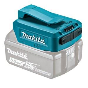 Akumuliatorių adapteris Makita 18V -> USB (x2); tinka krauti telefono baterijoms