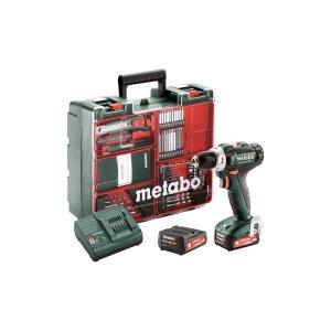 Suktuvas-gręžtuvas Metabo PowerMaxx BS 12 Set; 12 V; 2x2,0 Ah akum. + meistro rinkinys