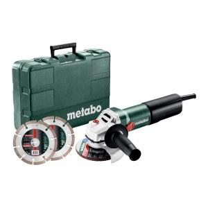 Kampinis šlifuoklis Metabo WQ 1100-125 Set + priedai