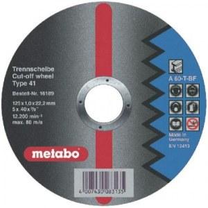 Abrazyvinis pjovimo diskas Metabo; Ø125x1 mm; metalui