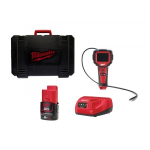 Patikros kamera Milwaukee M12 IC-201C; 12 V; 1x2,0 Ah akum.