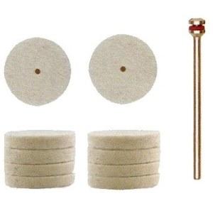Avies vilnos diskas poliravimui Proxxon; Ø22 mm; 10 vnt.