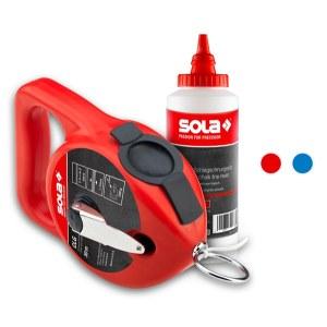Linijų žymėjimo kreida rinkinys Sola CLG 30 SET R; raudona