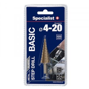 Pakopinis grąžtas Specialist Basic; 4-20 mm