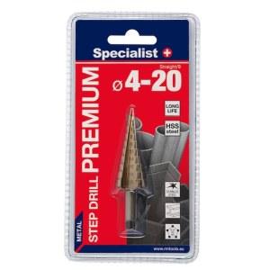 Pakopinis grąžtas Specialist Premium; 4-20 mm