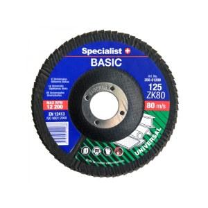 Vėduoklinis šlifavimo diskas Specialist 250-51212; 125 mm; ZK120