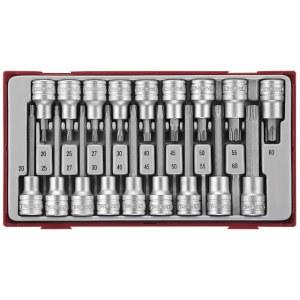 Galvučių su antgaliais rinkinys Teng Tools TTTX18; 18 vnt.