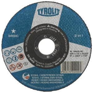 Abrazyvinis pjovimo diskas Tyrolit A 30 BF; Ø125x2,5 mm; 1 vnt.