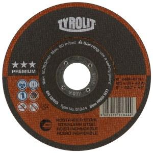 Abrazyvinis pjovimo diskas Tyrolit; Ø125x1,6 mm; 1 vnt.