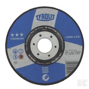 Šlifavimo diskas Tyrolit A 24 BF; Ø 125 mm; 1 vnt.
