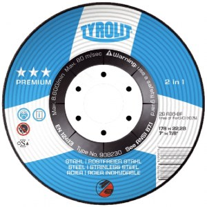 Šlifavimo diskas Tyrolit; Ø125x22,23 mm; 1 vnt.