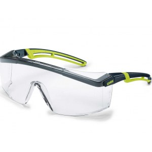 Apsauginiai akiniai Uvex Astrospec 2.0; skaidrūs; juodi/žali