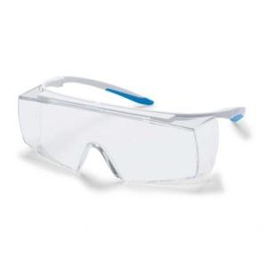 Apsauginiai akiniai Uvex Super F OTG CR; Supravision excellence; skaidrūs; balti/mėlyni