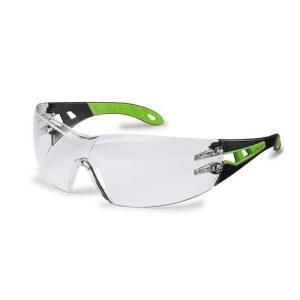 Apsauginiai akiniai Uvex Pheos; HC/AF; skaidrūs; juodi/žali