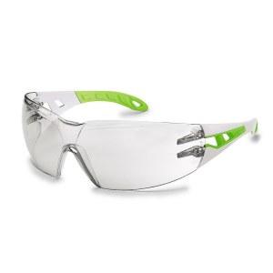 Apsauginiai akiniai Uvex Pheos S; skaidrūs; balti/žali