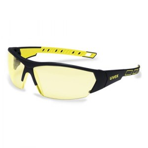Apsauginiai akiniai Uvex i-Works; geltoni/juodi