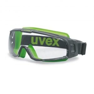Apsauginiai akiniai UVEX U-Sonic; Supravision excellence; skaidrūs; žali